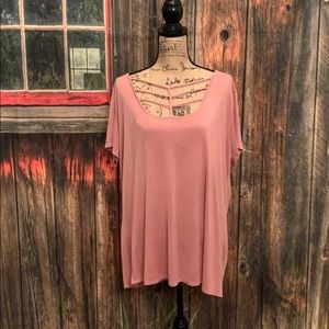 Free Kisses Mauve Plus Size Top